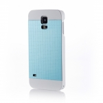 MOTOMO INO METAL S5 PERFPRATED CASE for Galaxy S5-Aqua Blue