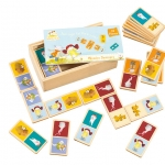 The Adventures of Abney & Teal Wooden Dominoes โดมิโนไม้