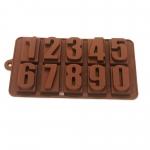 YT1298 พิมพ์ซิลิโคนช๊อคโกแลต-ตัวเลข