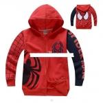 เสื้อคลุมกันหนาว spider man สีแดง