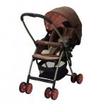รถเข็นเด็ก Aprica รุ่น Karoon Plus สีชมพู สำหรับเด็กแรกเกิด - 3 ปี หรือ น้ำหนัก 2.5 - 15 kg.