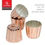 Matfer Canele Mould Copper 4.5x4.5 cm (340416)