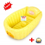 อ่างอาบน้ำเด็กเป่าลม Mambo baby สีเหลือง ลายเป็ด แถมฟรี ที่สูบลม