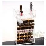 กล่องอะคิลิคใส 2 ส่วน แบบบานพับปิดด้านหน้า รุ่นพิเศษ Beauty Secretd Acrylic Cosmetic Box 2 Layers Limited Edition