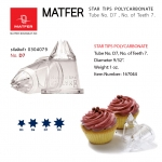 Matfer D7 POLYCARBONATE Tof Teeth 7. star tube (167044)