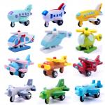 Mini airplane set (12 pieces) ชุดเครื่องบินไม้จิ๋ว