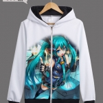 Preorder เสื้อกันหนาวฮู้ดมีซิป Hatsune Miku ver5