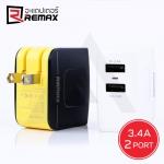 Remax Adapter 2 Port 3.4A Charger - ที่ชาร์จโทรศัพท์ 2 Port