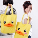 พร้อมส่ง กระเป๋าถือ เป็ดเหลือง B.Duck