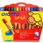Giotto Be-Be Super Jumbo Color Pencils 12 ดินสอสีใหญ่ 12 สี