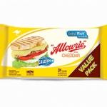 Allowrie cheddar cheese 1 Kg 81 แผ่น