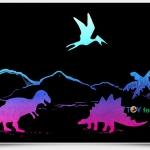 Scratch Cards-Jurassic park ชุดศิลปะขูดพร้อม stencil