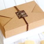 กล่องเค้กน้ำตาลคราฟ 19.5*12 cm