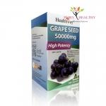 Healthway Grape Seed 50000mg.(เฮลท์เวย์ เกรฟซีด 50000mg.)100 แคปซูล ราคา1,325 บาท ส่งฟรี