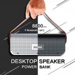ลำโพงบูลทูธ Remax H1 Desktop Speaker Powerbank