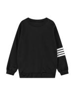 Jetting Buy Women Casual Sweatshirt Long Sleeve Stripe Black