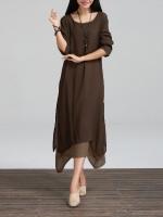 ZANZEA Womens Casual Loose BOHO Sundress Cotton Linen A-line LongWomen is Dresses Online