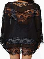 Zanzea Women Lace Chiffon Kimono Cardigan Black S-5XL