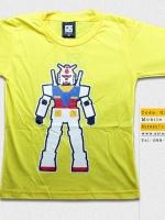 T-Shirt เสื้อยืดเด็ก เสื้อยืดกันดั้ม Mobie Suit Gundam (Zaku II) สุดเท่ห์ สีเหลือง จากร้าน GUNZU เสื้อยืดเด็ก!! Asia Street Fashion
