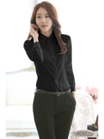 Women's Long Sleeve Formal Work Blouses Shirts