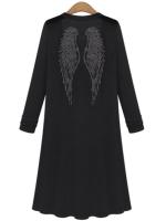 Fashion Women Long Coat Casual Long Sleeve Open Kimono Cardigans