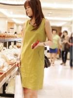 Yika New Fashion Stylish Lady Womens Sleeveless O-neck Party Career Dress M-XL (Pink) (Intl)