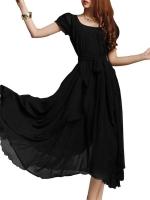 New Long Chiffon Irregular Big Han Edition Dress