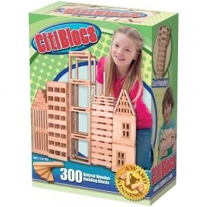 CitiBlocs 300 piece Natural Building Blocks บล็อคไม้สร้างสรรค์ ชุด 300 ชิ้น