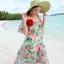 MAXI DRESS ชุดเดรสยาว พร้อมส่ง พื้นสีฟ้า ลายดอกไม้ สีโทนชมพู สวยมาก ดีเทลระบายเป็นชั้น thumbnail 5