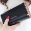 กระเป๋าสตางค์ YADAS พร้อมส่ง สีดำ ทรงเรียบหรู ใบยาว DESIGN สุดเก๋ ไฮโซมากๆ thumbnail 4