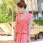 ชุดว่ายน้ำแฟชั่น : ชุดว่ายน้ำวันพีช สีชมพู สม๊อคช่วงอก คอวีลึก แต่งระบายช่วงแขน กระโปรงพริ้วๆน่ารัก ด้านในเป็นกางเกงติดกับตัวชุดค่ะ thumbnail 6