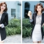 เสื้อสูทแฟชั่น เสื้อสูททำงาน เสื้อสูทผู้หญิง พร้อมส่ง เสื้อสูทสีดำ เนื้อผ้าโพลีเอสเตอร์ คอตตอน 100 % คุณภาพดี thumbnail 4