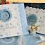 การ์ดแต่ง 3 พับ ขนาด 5.75x5.75 นิ้ว สีชมพู รหัส60291 - สีฟ้า รหัส60296 thumbnail 2
