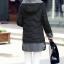 เสื้อโค้ทแฟชั่น พร้อมส่ง สีดำ ตัวยาว แต่งซิบรูดสีเทา แต่งปลายแขน และ ชายเสื้อด้วยสีเทา มีฮูทสุดเท่ห์ แฟชั่นมาใหม่สไตล์เกาหลี thumbnail 2