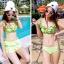 ชุดว่ายน้ำทูพีช สีเขียวสดใส ยกทรงแต่งระบาย ดีเทลกระโปรงระบายเป็นชั้นๆ สีสันสดใส น่ารักมากๆ thumbnail 3