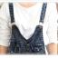 ชุดเอี๊ยมแฟชั่น พร้อมส่ง สียีนส์ฟอกสีสวย เอี๊ยมยีนส์กางเกงขายาว เอวต่ำ แฟชั่นสุดล้ำนำเทรนด์ เนื้อผ้ายีนส์มีความยืดหยุ่นได้ค่ะ thumbnail 4