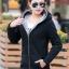 เสื้อกันหนาว พร้อมส่ง สีดำ ซิบหน้า มีฮูทสุดเท่ห์ ฮูทบุด้วยขนสัตว์สังเคราะห์นิ่มๆ แฟชั่นมาใหม่สไตล์เกาหลี thumbnail 1