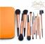 แปรงแต่งหน้า ชุดเซ็ท แปรงแต่งหน้า คุณภาพดี ขนอ่อนนุ่ม FakeFace Orange wool portable professional makeup brush set full set แปรงแต่งหน้า/11ชิ้น - สีส้มเมทาลิค thumbnail 1