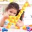 Triangle plug match building blocks132 pieces ตัวต่อสามเหลี่ยม thumbnail 4