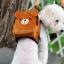 กระเป๋าเป้สุนัข กระเป๋าเป้แมว ลายหมีน้ำตาล thumbnail 1