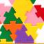 Triangle plug match building blocks132 pieces ตัวต่อสามเหลี่ยม thumbnail 8