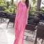 MAXI DRESS ชุดเดรสยาว พร้อมส่ง สีชมพู ลายทางสลับสีสวยมากๆ สินค้าจริงงานเหมือนแบบเลยค่ะ thumbnail 1