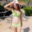 ชุดว่ายน้ำทูพีช สีเขียวสดใส ยกทรงแต่งระบาย ดีเทลกระโปรงระบายเป็นชั้นๆ สีสันสดใส น่ารักมากๆ thumbnail 5