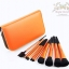 แปรงแต่งหน้า ชุดเซ็ท แปรงแต่งหน้า คุณภาพดี ขนอ่อนนุ่ม FakeFace Orange wool portable professional makeup brush set full set แปรงแต่งหน้า/11ชิ้น - สีส้มเมทาลิค thumbnail 2