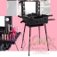 กระเป๋ารถเข็น โต๊ะเครื่องแป้ง กล่องเก็บเครื่องสำอาง Professional major beauty case boxes stand - Black thumbnail 2