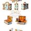 GIKIM Mladic handmade beauty case vintage (Limited Edition)กระเป๋าใส่เครื่องสำอางค์ - สีฟ้า thumbnail 2