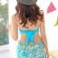 ชุดว่ายน้ำทูพีช สีฟ้า เสื้อลายดอกไม้ สายคล้องคอ แต่งระบาย กางเกงแต่งระบายเป็นชั้นๆ น่ารักมากๆ thumbnail 6