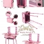 กระเป๋ารถเข็นโต๊ะเครื่องแป้ง กล่องเก็บเครื่องสำอาง Professional major beauty case boxes stand - Pink thumbnail 2