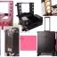 กระเป๋า รถเข็น โต๊ะเครื่องแป้ง กล่องเก็บเครื่องสำอาง Beauty Secret D Professional Cosmetics Bag รุ่น PCB-001 Pink thumbnail 5