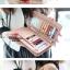 กระเป๋าสตางค์แฟชั่น พร้อมส่ง สีม่วง ด้านในแต่งด้วย สีชมพู น่ารัก ทรงเรียบหรู ใบยาว DESIGN สุดเก๋ ไฮโซมากๆ แต่งด้วยจี้หัวใจ น่ารักๆ thumbnail 3